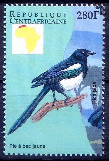 Eurasian magpie, Birds, Central Africa MNH - M41