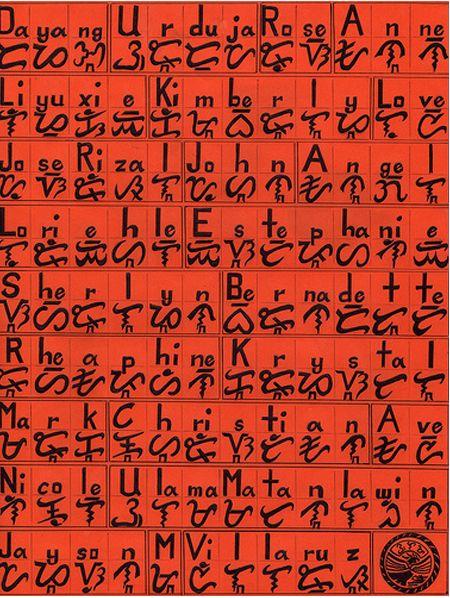 Baybayin (Alibata) typography
