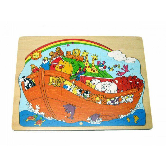 #Wooden #Interlocking #Noah's Ark #Puzzle