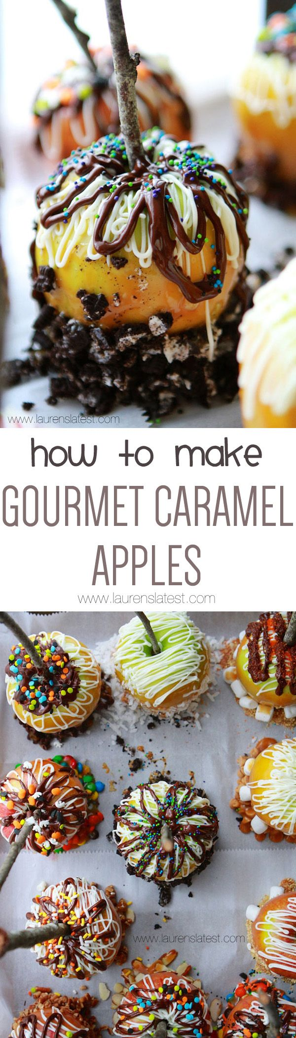 gourmet caramel apples - Gourmet Halloween Recipes