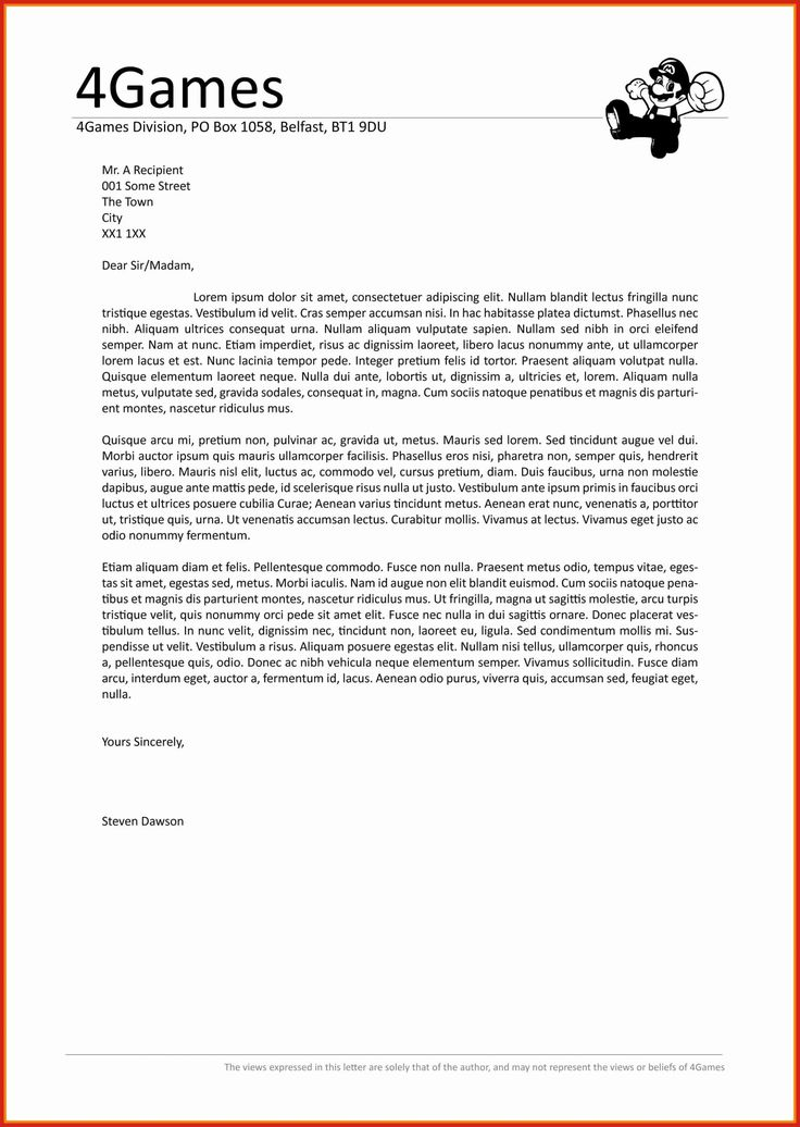 Best Cover Letter Template Word Beautiful Letter Headings