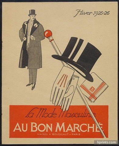 Au Bon Marché (Department Store) 1926 Catalogue, Men's Clothing, Costumes for Automobilists