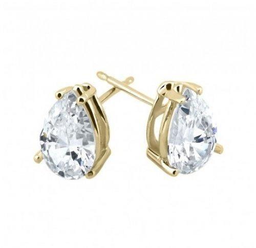 Bling Jewelry Gold Vermeil Basket Set CZ Teardrop Stud Earrings 8mm
