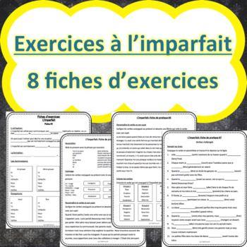 L'imparfait - 8 Fiches d'exercices