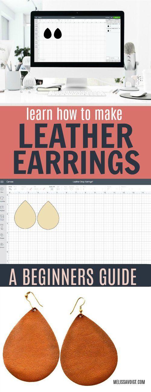 Lerne, wie du deine eigenen Lederohrringe von zu Hause aus bastelst! Es ist einfach und billig! Wir wi …   – Saving Money ~ Group Board