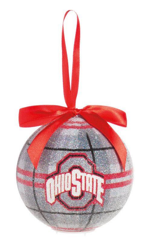 osu buckeye homemade christmas ornaments   Ohio State Buckeyes LED Christmas Ornament
