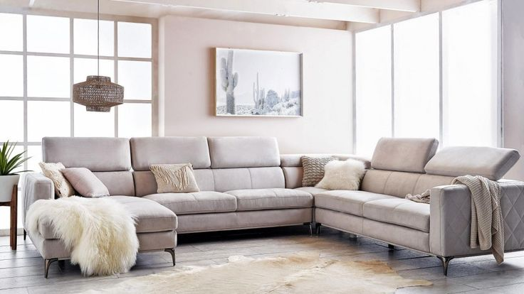 Houston 6 Seater Fabric Modular Sofa With Chaise Lounges