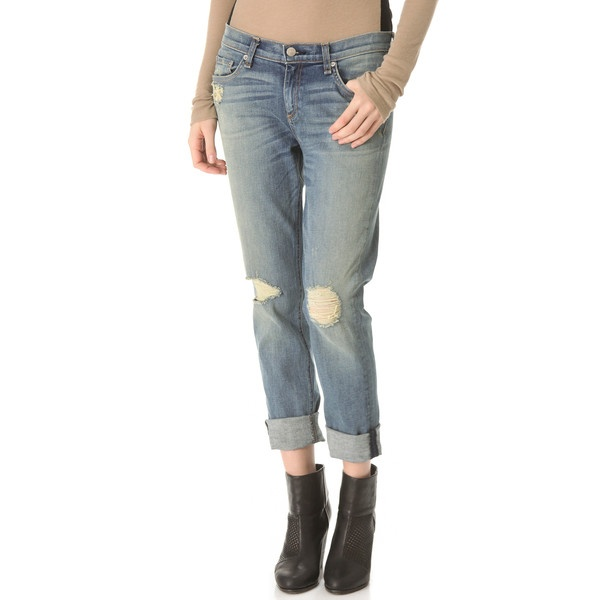 Rag & Bone/JEAN The Dash Slouchy Skinny Jeans ($220) ❤ liked on Polyvore