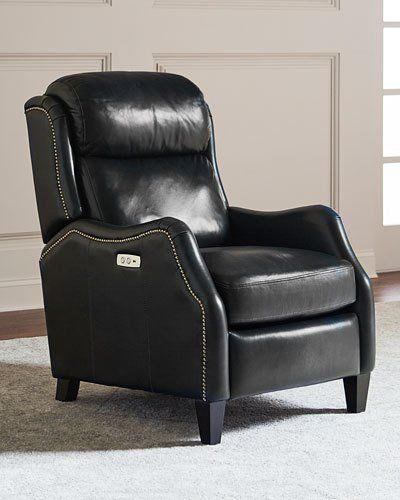 Bernhardt Cleo Leather Powered Recliner Chair