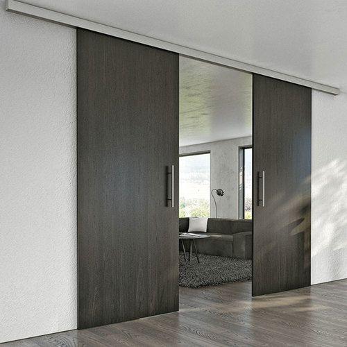 Hafele Slido Classic 120 Sliding Wood Door Kit 264 Lbs Max Door Weight Sliding Wood Doors Barn Door Handles Door Fittings