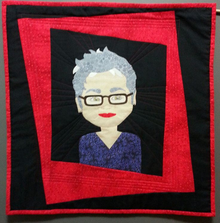"""""""A Little Off Kilter"""" by Leah Passler My entry in the Selfie Quilt Challenge, Ponemah Quilt Show 2015"""
