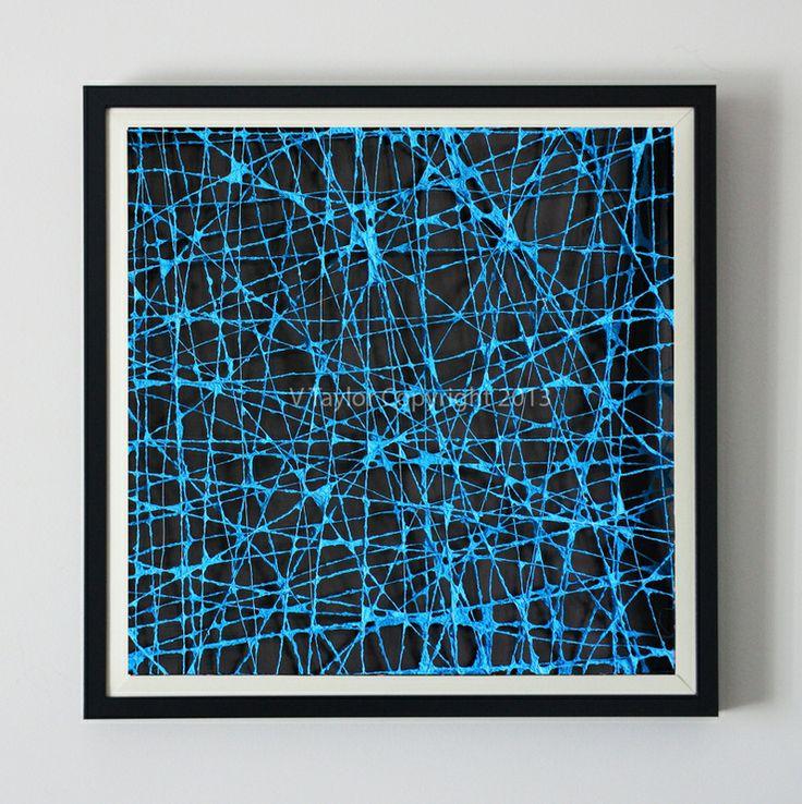The Paperer Box Frames Colour: Blue Artwork Size: 52.5cm x 52.5cm x 4.5cm
