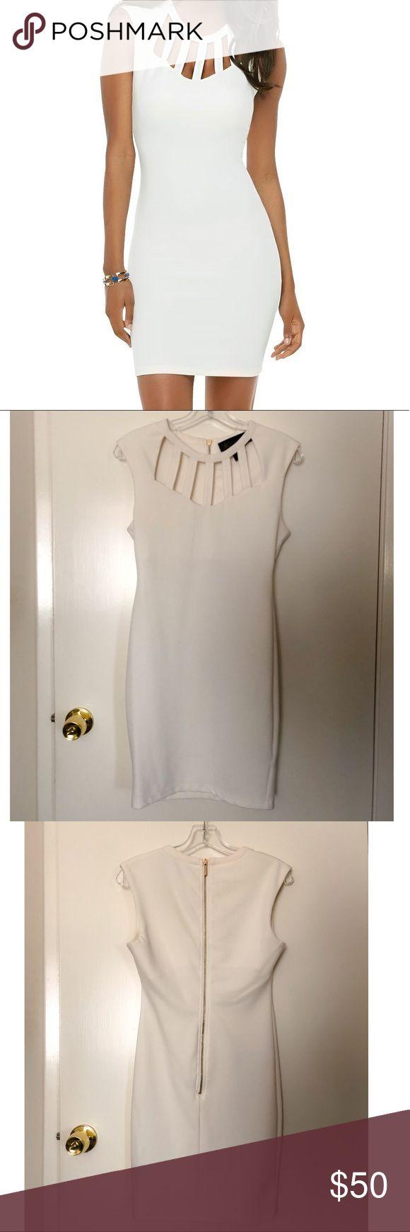 Kardashian Kollection White Dress Excellent condition Kardashian Kollection white dress. Only worn once. Kardashian Kollection Dresses Mini