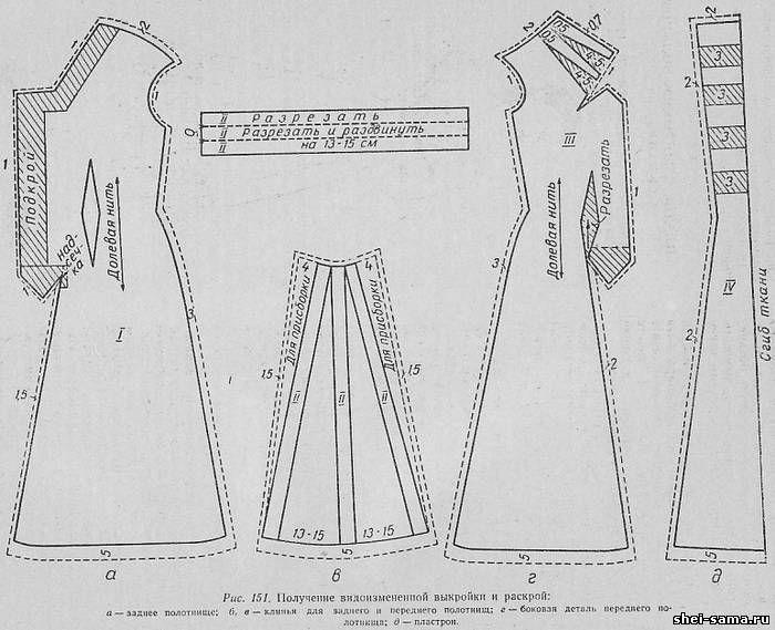 Платье с проходным клином и драпировкой в его верхней части - Сто фасонов женского платья  - Всё о шитье