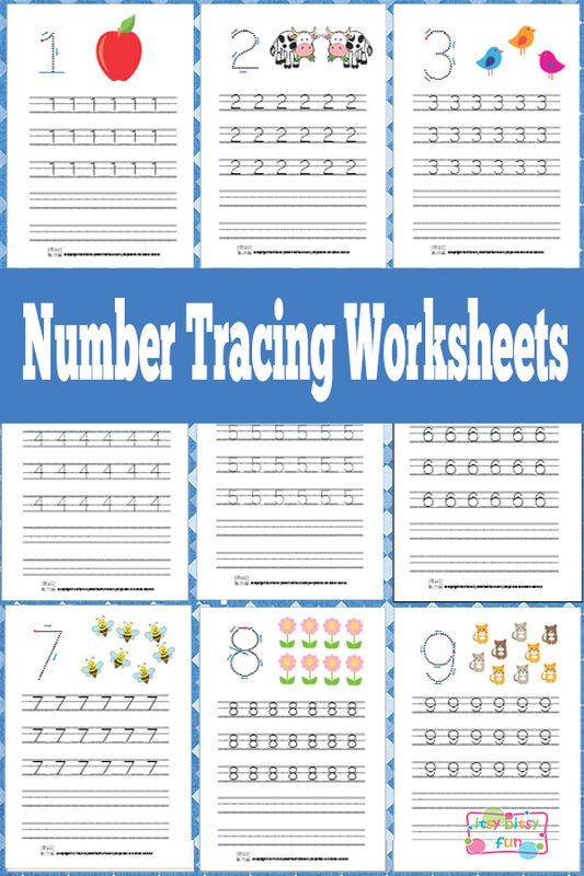 Kindergarten Activities: Number Tracing Worksheets Free Printable
