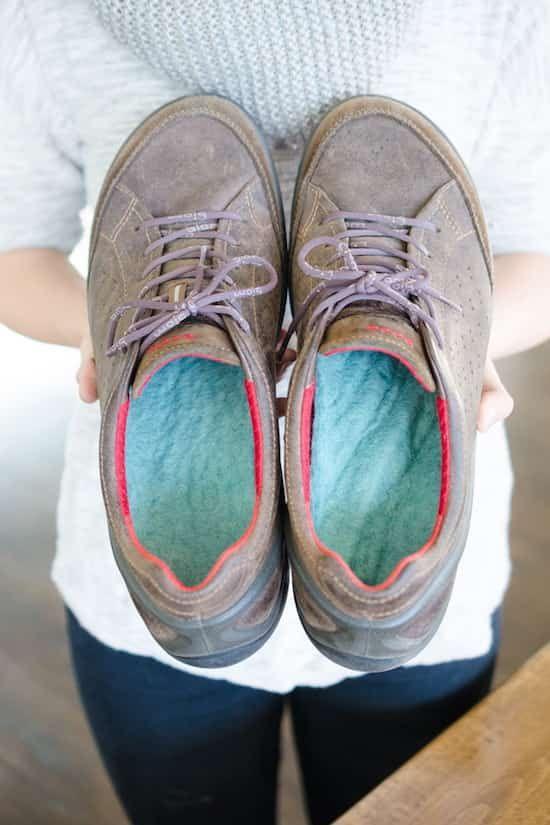 du tissu de laine pour avoir les pieds au chaud