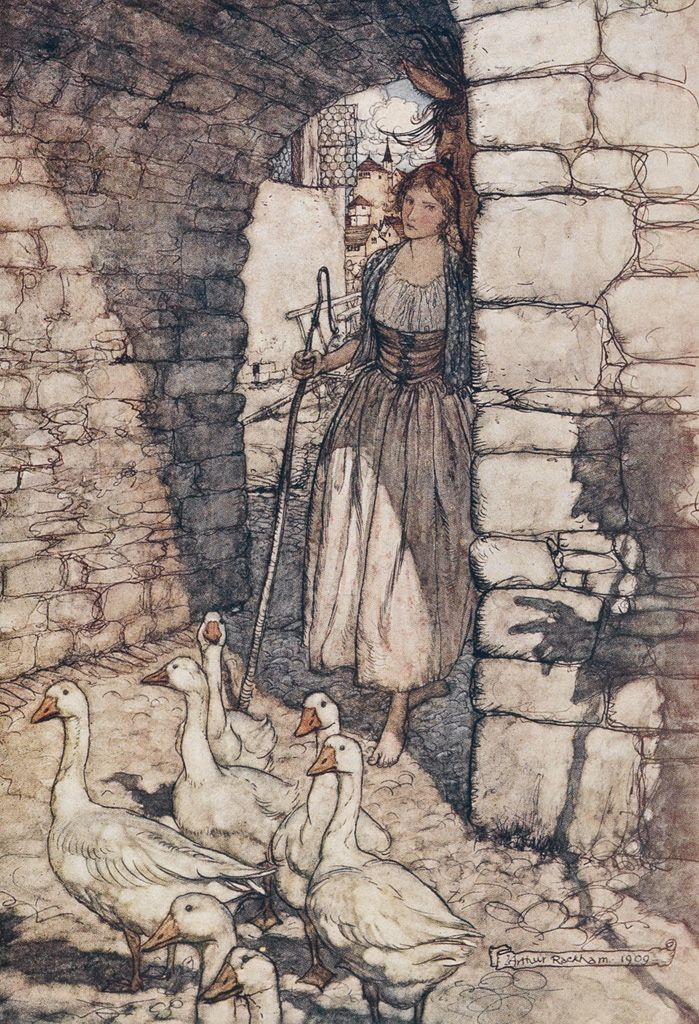 Arthur Rackham illustration for The Fairy Tales of the Brothers Grimm, 1909