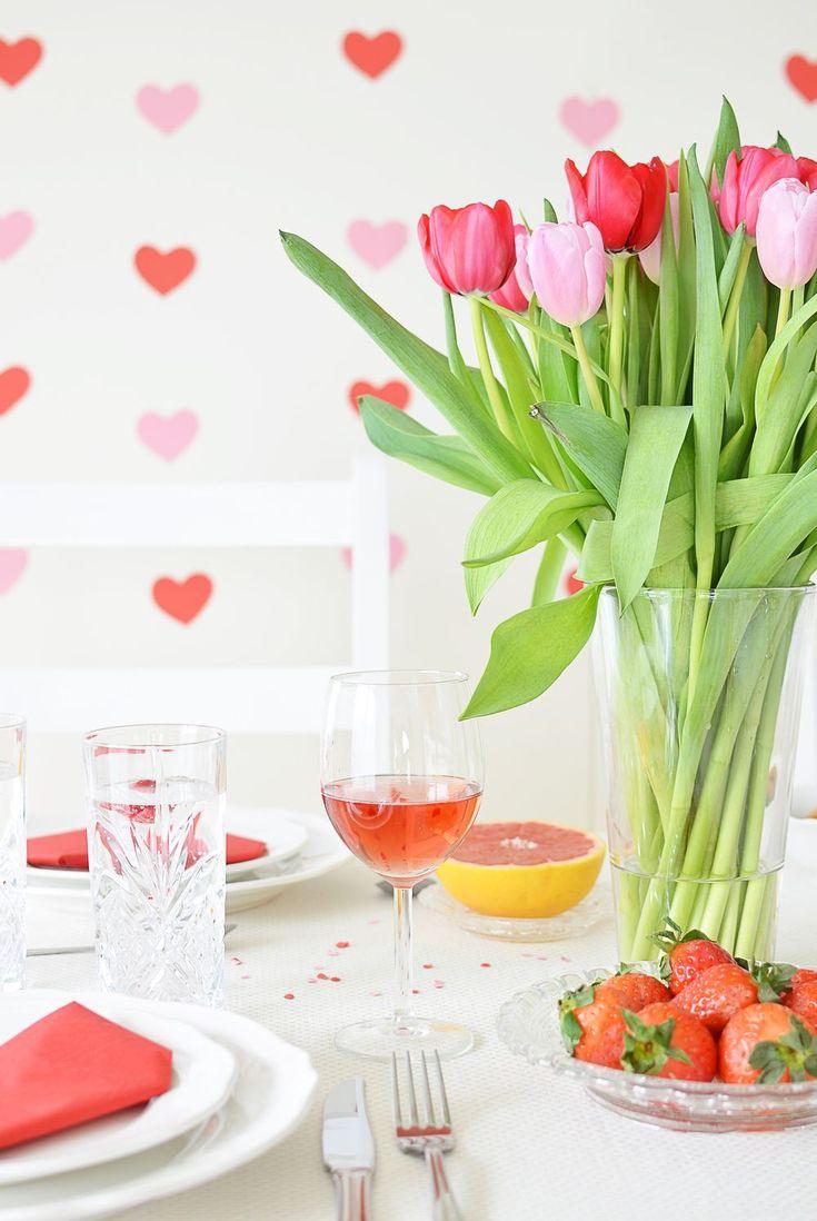 Walentynki - dekoracje stołu