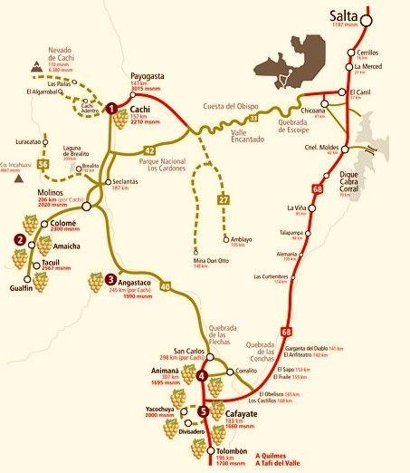mapa rutas salta y jujuy - Buscar con Google