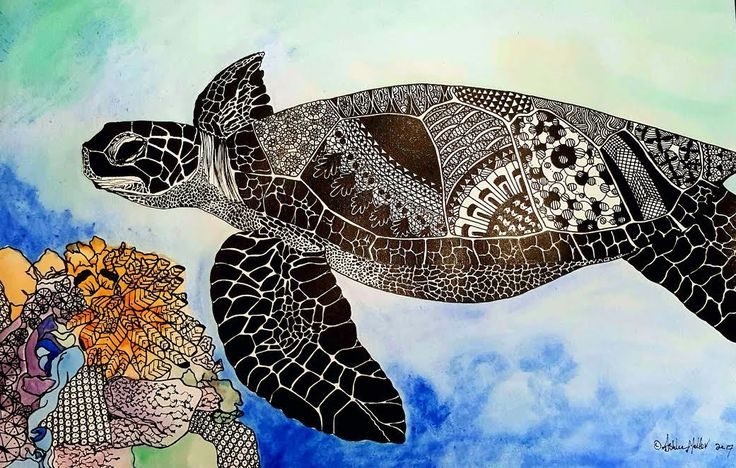 """Scars of the Giant Sea Turtle"" by Ashlee Mellor. Paintings for Sale. Bluethumb - Online Art Gallery"
