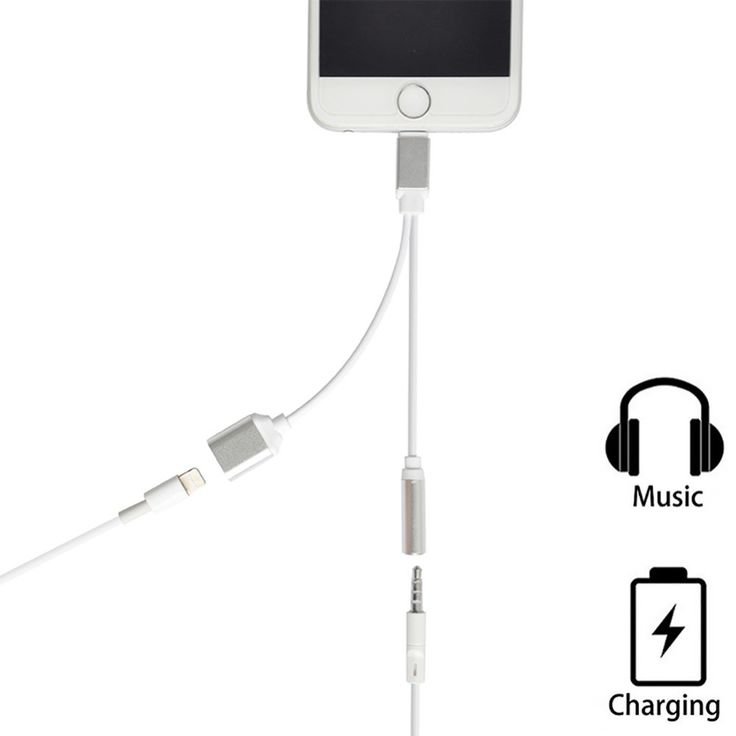 2 in 1 Charging Audio Adapter For iPhone 7 7 Plus Lighting to 3.5MM Headphone Headset Jack Charger Earphone Cable for iPhone 6S