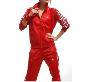 Красный костюм женский адидас с доставкой