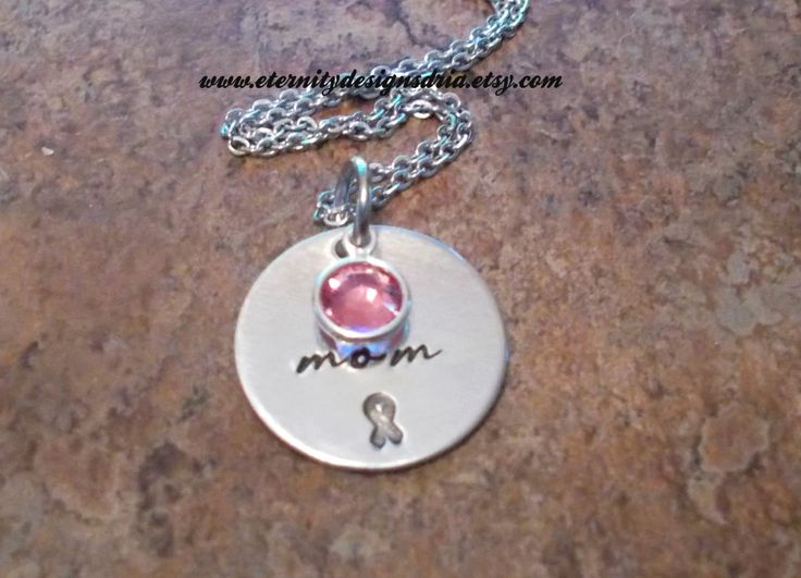 Personalized Cancer Survivor Necklace, Breast Cancer Awareness Jewelry
