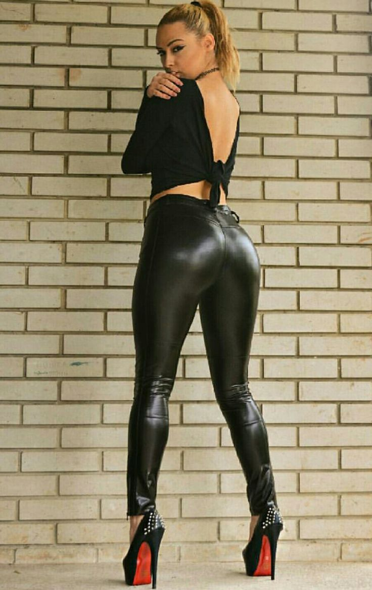 Liquid leggings high heels