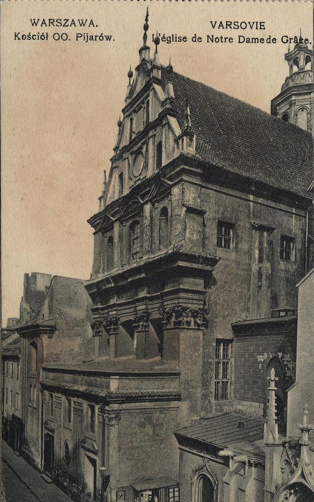 Warszawa przedwojenna - kościół Pijarów