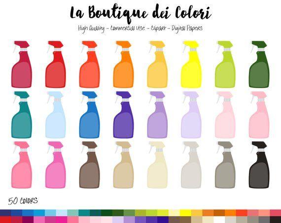 50 Spray Bottle Clipart Digital Illustrations Png Cleaning Etsy Clip Art Spray Bottle Digital Illustration