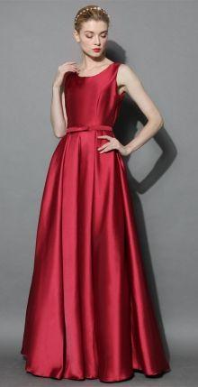 POSHme - Chicwish společenské šaty Glamorous, rudé