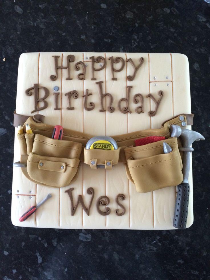 Gâteau d'anniversaire pour un charpentier par www.cupboardlovec …   – Geburtstag Papa