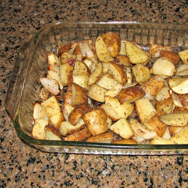 Looking for an easy way to make potatoes? Roasted Potato and Onion Wedges are simply seasoned making them the perfect side dish to accompany any meal.
