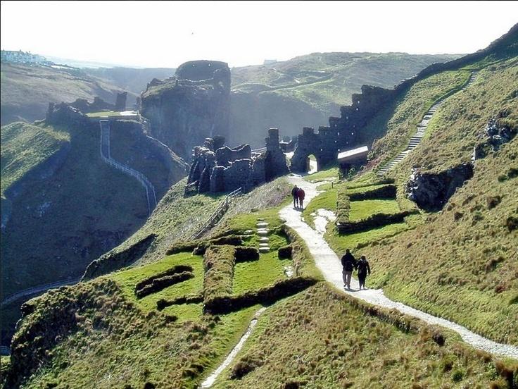 Tintagel Castle in Cornwall