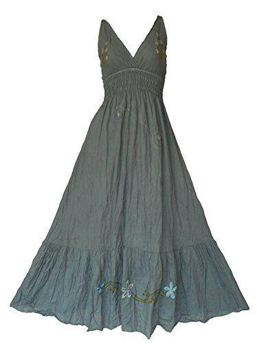 Bonya Women's Hippe Boho Sexy Emboidered Maxi Halter Dress - BS02 (Grey) Bonya Collections http://www.amazon.com/dp/B01D7PL33M/ref=cm_sw_r_pi_dp_NZc8wb0ZFJG09