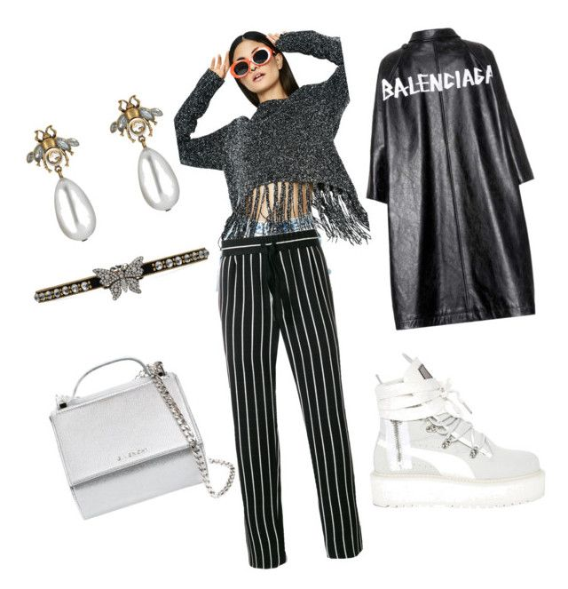 """""""""""ColdStone"""""""" by emmanuel-lewis on Polyvore featuring Dance & Marvel, Haider Ackermann, Balenciaga, Puma, Gucci and Givenchy"""