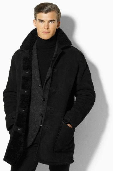 Polo Ralph Lauren Dakota Shearling Jacket in Black