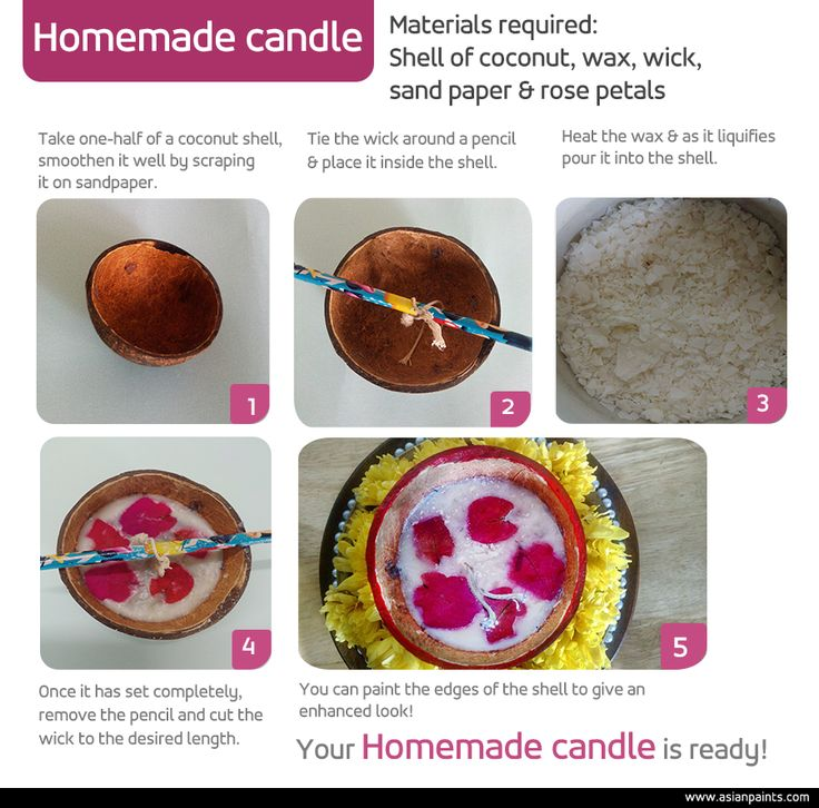 Add light to a centrepiece or vignette with the glow and shine of these homemade coconut candles. Treat guests to the festive feel or the tropical resort aesthetic with blossoms, fruit and accessories alongside the candle to stir up an air of the traditional exotic. Try this... #DIY