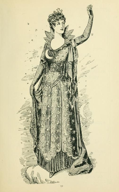 Wonderful moon costume from the book -Thirty original sketches for Fancy Costumes...1884
