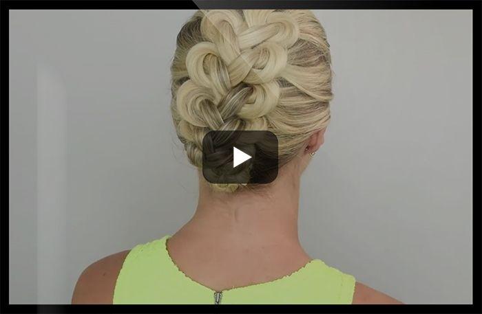 Vem älskar inte när något ser sjukt avancerat ut fast det egentligen är superenkelt att göra?  Spana in klippet visar hur lätt du kan knyta håret (japp, knyta) till den här coola frisyren!