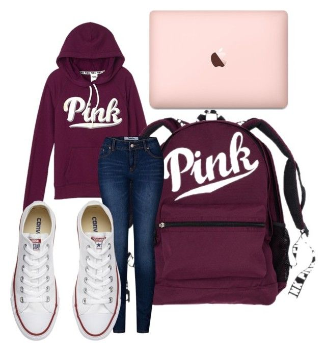 """College"" by agilm5 on Polyvore featuring Victoria's Secret, 2LUV and Converse"