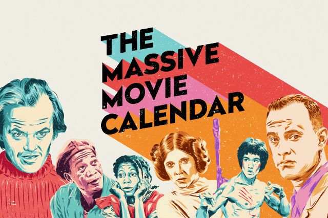 Never be stuck for something to watch again with The Massive Movie Calendar: 365 films matched to every day of the year with trivia, ratings and suggested viewing.