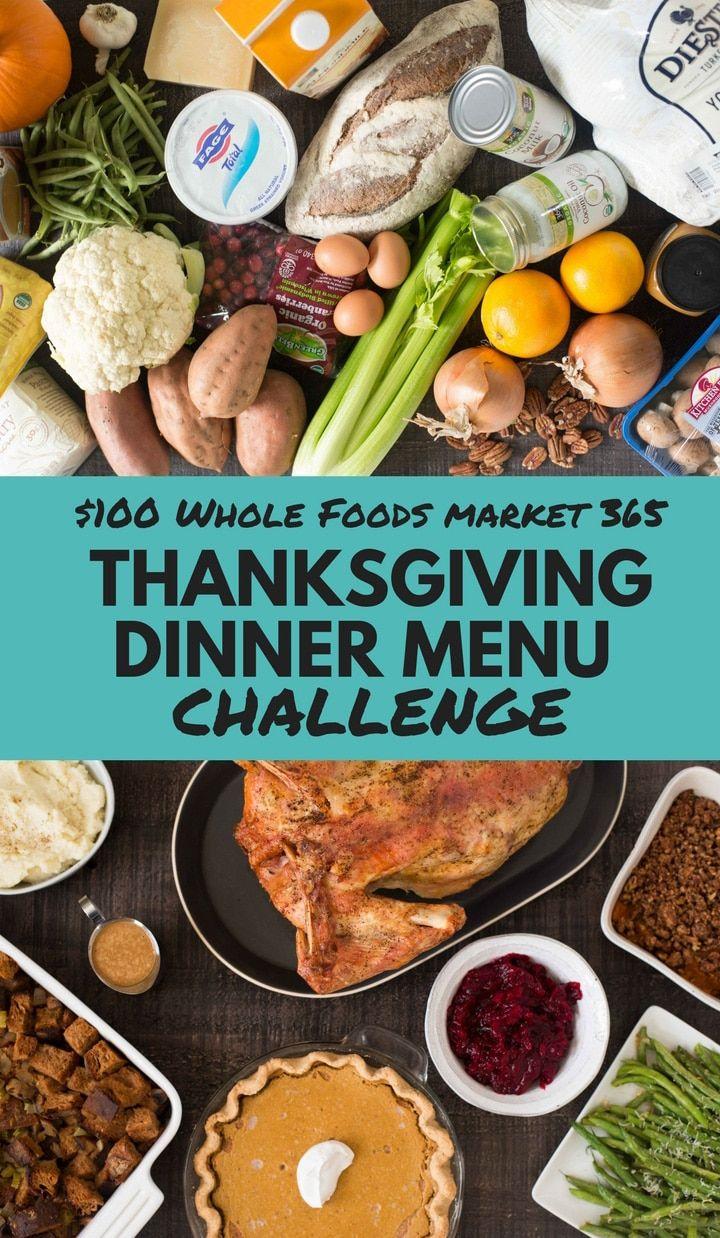 100 whole foods 365 thanksgiving dinner menu challenge