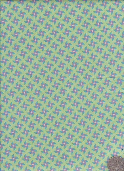"Pinwheel Green  ""Where The Wind Blows"" designed by Melanie Hurlston."