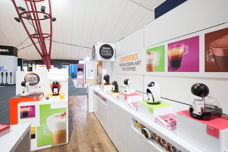Dolce Gusto Custom Stand at the Harvey Norman Expo, 2015.