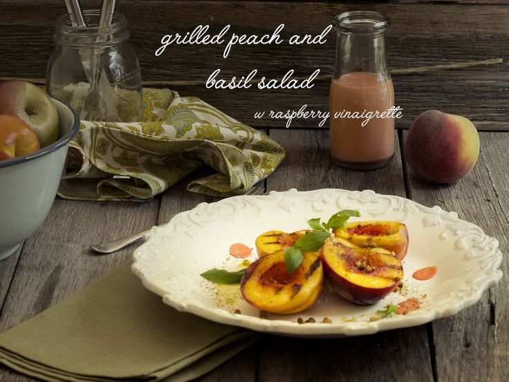grilled peach salad feature