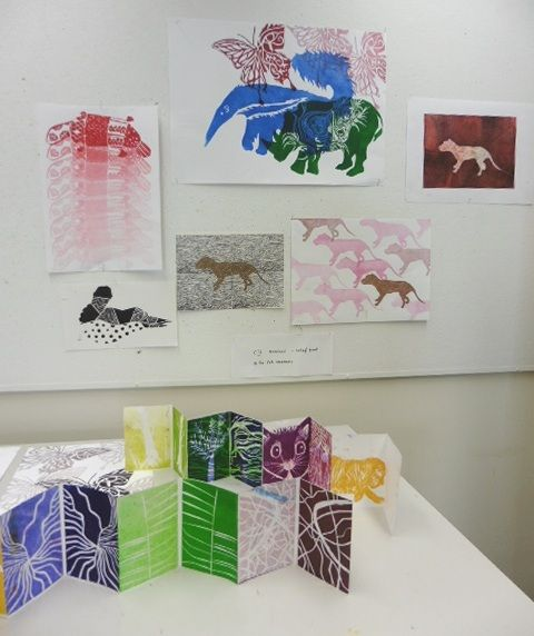 woodcut prints based on drawings from WA Museum CIII 2015