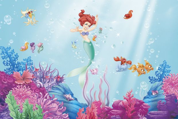 Best 25 little mermaid wallpaper ideas on pinterest for Disney ariel wall mural