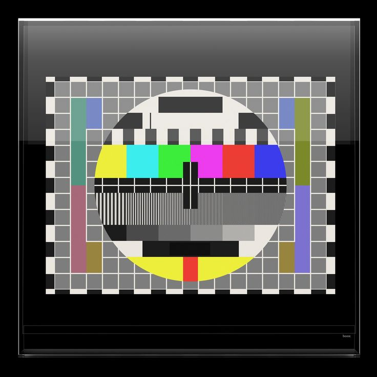 TV TEST CARD Today we recall the Test Card at which a television camera was pointed during the earliest television broadcasts for test signal. The model shown is the PHILIPS PM5544 electronic colour pattern which has been the test card of choice for most colour broadcasters since the late 1960s. #television #boox #tvtestcard