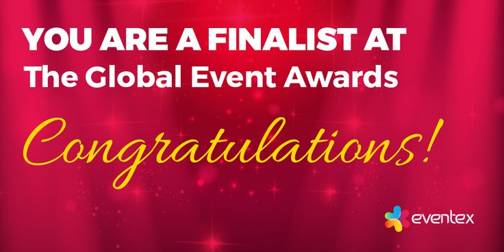 We are proud to be one of the finalists at Eventex Awards! ‪#‎eventprofs